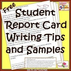 Report Card Comments Super Sale Save Hours Writing Report Card