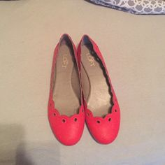 Loft red flats size 7 Never been worn.  Size 7 but fits more like 7.5 LOFT Shoes Flats & Loafers