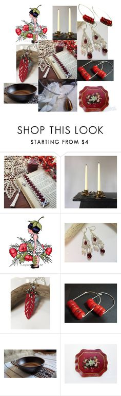 """Christmas Picks"" by inspiredbyten ❤ liked on Polyvore featuring Hostess and vintage"