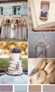 lavender and nude rustic wedding color ideas 2015 trends