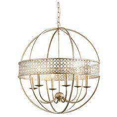 Ballard Designs Marais 6-Light Orb Chandelier (7 405 ZAR) ❤ liked on Polyvore featuring home, lighting, ceiling lights, orb light, orb chandelier lighting, orb chandelier, 6-light and orb lamp