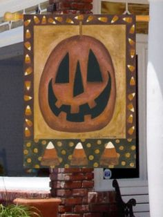 Primitive Pumpkin - 28 Inch X 40 Inch Large Decorative Flag by Custom Decor. $19.99. Durable 300 Denier Fabric. Made in USA. 28 Inch X 40 Inch Large Decorative Flag. Optional Mailbox Makover Available. Dye Sublimation Printing. This beautiful flag will brighten your garden or home. Made by Custom Decor in the USA, using their dye sublimation process you will have pride in flying it for years to come.. Save 26% Off!