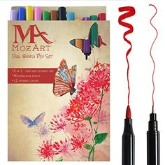 Dual Tip Brush Pen Marker Set - 12 Colors - Soft Flexible... https://www.amazon.com/dp/B01HA6CRVQ/ref=cm_sw_r_pi_dp_x_Kyn3zbX36B5FP