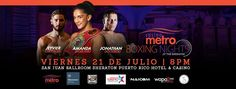 "Puerto Rican Amanda Serrano, world champion in five weights, will have a new opponent for the defense of her WBO 122-pound title on Friday, July 21, in the start of the series ""Viernes de Campeones en Metro Boxing Nights Casino"" presented by PR Best Boxing Promotions (PRBBP), at the San Juan Ballroom of the Sheraton Puerto Rico Hotel & Casino in San Juan, Puerto Rico."