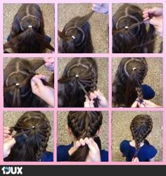 fancy hairstyle!