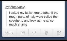 You had to watch your back in the Spaghetto.