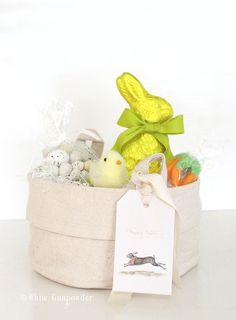 Easter Basket, Treats, and Printable Tags - White Gunpowder