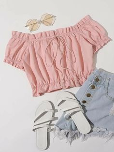 Cute Lazy Outfits, Teen Girl Outfits, Crop Top Outfits, Girls Fashion Clothes, Teen Fashion Outfits, Outfits For Teens, Pretty Outfits, Stylish Outfits, Cool Outfits