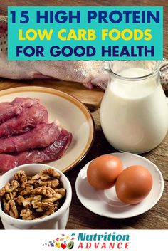 15 High Protein, Low Carb Foods: Healthy and Delicious Options | Protein-rich foods can be some of the most nutritious options. This article presents 15 high protein, low carb foods that are very healthy and delicious.  via @nutradvance