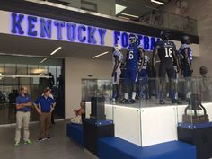 The new football facility. Went there to do drug testing, and it was an amazing view. The place is breath taking and the statues of the players is an unbelievable view.