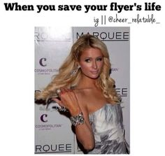 Find images and videos about lol, paris hilton and reaction pictures on We Heart It - the app to get lost in what you love. Funny Cheer Quotes, Cheer Qoutes, Cheer Funny, Cheerleading Quotes, Cheer Stunts, Cheer Base, All Star Cheer, Cheer Mom, Las Vegas