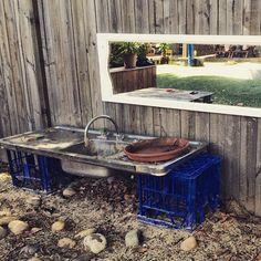 SnapWidget | Outdoor kitchen at Oac Neutral Bay. #preschool #playmatters…