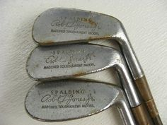antique golf clubs | vintage antique old Bobby Jones golf clubs made by Spalding