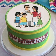 A Bob's Burgers cake out of Nadia Cakes in Maple Grove