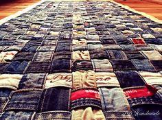 OOAK PIXELS hand gemaakt/hand geweven upcycled oude jeans