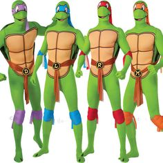 Adult mens tmnt #teenage #mutant ninja turtles 2nd skin fancy #dress costume outf,  View more on the LINK: http://www.zeppy.io/product/gb/2/321655484488/
