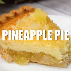 Pie Pineapple Pie - Creamy, smooth and tropical! This pie is easy to prepare and guaranteed to be loved by all.Pineapple Pie - Creamy, smooth and tropical! This pie is easy to prepare and guaranteed to be loved by all. No Bake Desserts, Easy Desserts, Delicious Desserts, Yummy Food, Cold Desserts, Pineapple Pie Recipes, Pineapple Cobbler, Pineapple Desserts, Desert Recipes