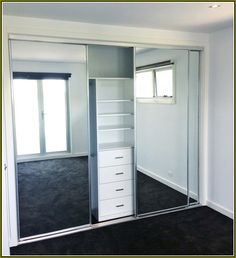 Frameless Mirrored Closet Doors enter sliding wardrobe in black with glass | wardrobes, glass and