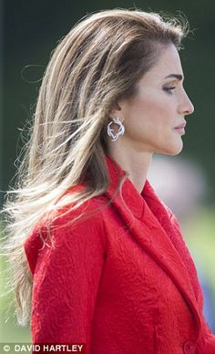 Queen Rania of Jordan was among the proud parents watching their offspring pass out from Sandhurst