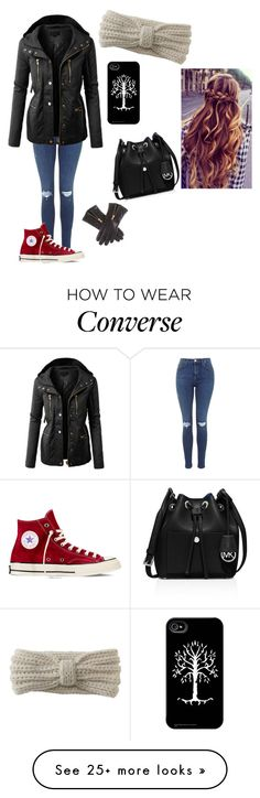 """out in the cold"" by nerdgurl44 on Polyvore featuring LE3NO, Aéropostale, Converse and MICHAEL Michael Kors"