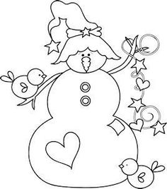Wool Applique, Embroidery Applique, Cross Stitch Embroidery, Christmas Embroidery Patterns, Applique Patterns, Embroidery Designs, Stitch Patterns, Theme Noel, Snowman Crafts