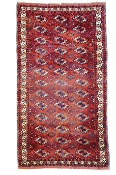 Tekke main carpet 8ft. 4in. x 4ft. 8in. (253 x 142 cm) Turkmenistan pre 1800