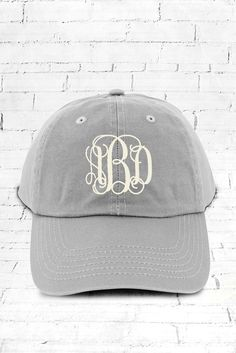 This cap is perfect for everyday wear! A 3 Initial Monogram will automatically…