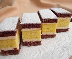 Nassoló: Citromkrémes mézes sütemény Hungarian Desserts, Hungarian Recipes, Sweet Recipes, Cake Recipes, Dessert Recipes, Food Cakes, Vanilla Cake, Tiramisu, Cheesecake