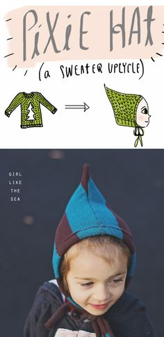 Upcycle a sweater and make a DIY pixie hat for the fall season with this tutorial on The Sewing Rabbit's blog. It's hard crafting a hat as cute as the kid who will wear it, isn't it?