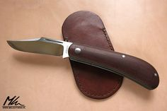 Leather sheath for slipjoint knife by J.Oeser www.mkleathers.pl
