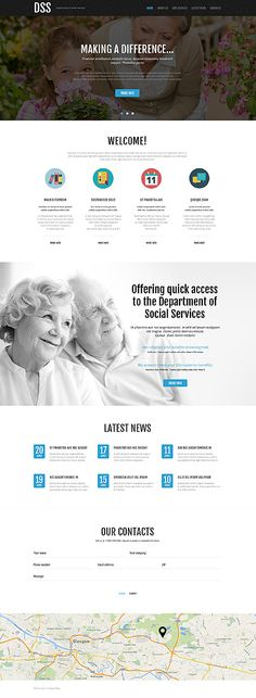 Insurance Responsive Website Template | Template, Website and ...