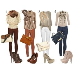 4 very cute outfits!