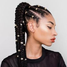 Feed In Ponytail - Best Braided Black Hairstyle Ideas - Best Braided Bla. Feed In Ponytail Feed In Ponytail, Feed In Braid, Hair Styles 2016, Curly Hair Styles, Natural Hair Styles, African Braids Hairstyles, Girl Hairstyles, Braid Hairstyles, Hairstyle Ideas