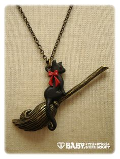 Witch Cat Necklace AatP $64  looks like gigi~ from kiki's delivery service