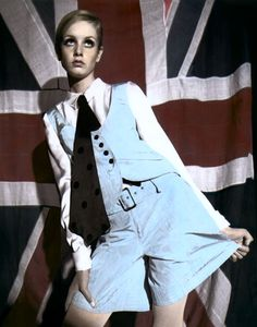 English model Twiggy wearing Mary Quant, United Kingdom, 1966, photograph by Terence Donovan.
