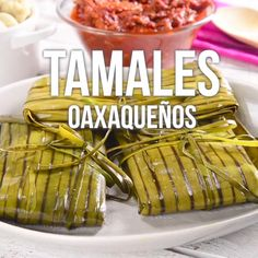 Oaxacan Tamales Video - This is a delicious and traditional piece of Mexican cuisine, the Oaxacan tamales wrapped in banana - Mexican Cooking, Mexican Food Recipes, Dinner Recipes, Comida Diy, Enjoy Your Meal, Tamale Recipe, Pozole, Cooking Recipes, Healthy Recipes