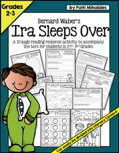 Worksheets Ira Worksheet literature activities and the ojays on pinterest a 10 page reading response booklet that accompanies ira sleeps over perfect for 2nd