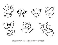 Silly Pumpkin Faces with Royal Icing Transfers Royal Icing Piping, Royal Frosting, Royal Icing Cookies, Cupcake Cookies, Sugar Cookies, Cupcakes, Iced Cookies, Piping Templates, Royal Icing Templates