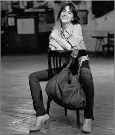 Charlotte Gainsbourg - Jeans/ Pumps/ Bag