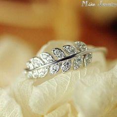 925 Sterling Silver Rings women Crystal Stone Leafs Rings Adjustable Rings   #bridal #jewellery #jewelrysets #rings #earrings