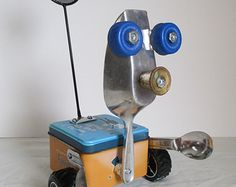 SCOOPER- Found object robot sculpture~assemblage