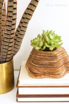 wood topography insipred planter