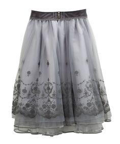 axes femme online shop 【OUTLET】【Web限定】フロッキーpt入チュールスカート