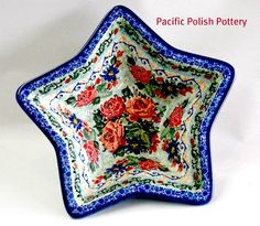 New shape from Ceramika Artystycznca. Polish pottery signature star bowl.
