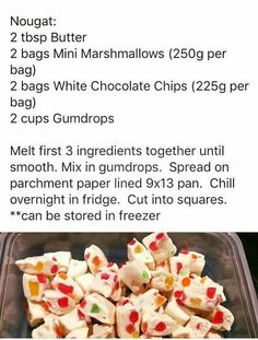 Gumdrop Nougat  Can use jelly tots instead