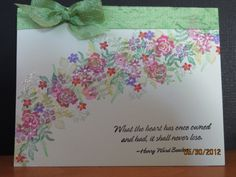 Floral Sympathy using Rubber Stamp Tapestry- Beautiful