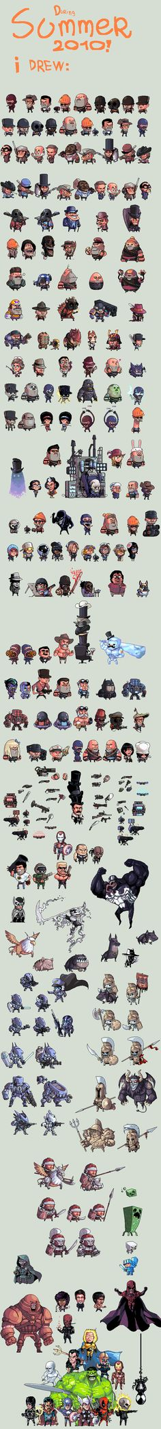 Nice reference for character style development Productive Summer pixel art by Shwig - Team Fortress Mass Effect, Venom, Minecraft, Avengers. Game Design, Web Design, Pixel Characters, Cute Characters, Game Character, Character Concept, How To Pixel Art, 8bit Art, Pixel Art Games