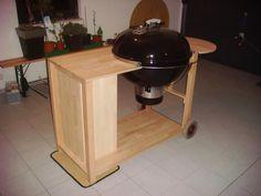Weber Kettle Homemade Cart/Table - The BBQ BRETHREN FORUMS.