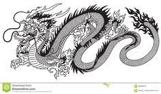 Китайский дракон черно-белый - Скачивайте Из Более Чем 58 Миллионов Стоковых Фото, Изображений и Иллюстраций высокого качества. изображение: 83695876