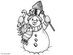 Printable Snowman   Snowman Coloring Pages, Printable Snowman Coloring Sheets, Snowman ...
